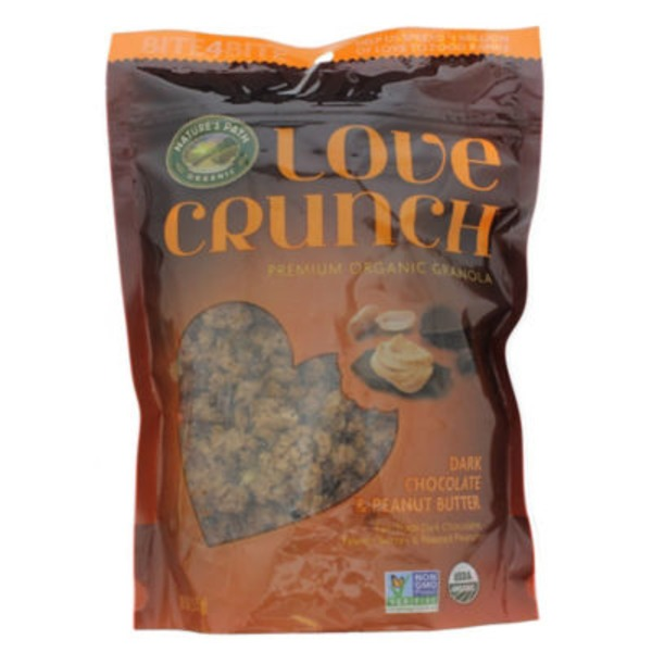 Nature's Path Love Crunch Premium Organic Granola Dark Chocolate & Peanut Butter