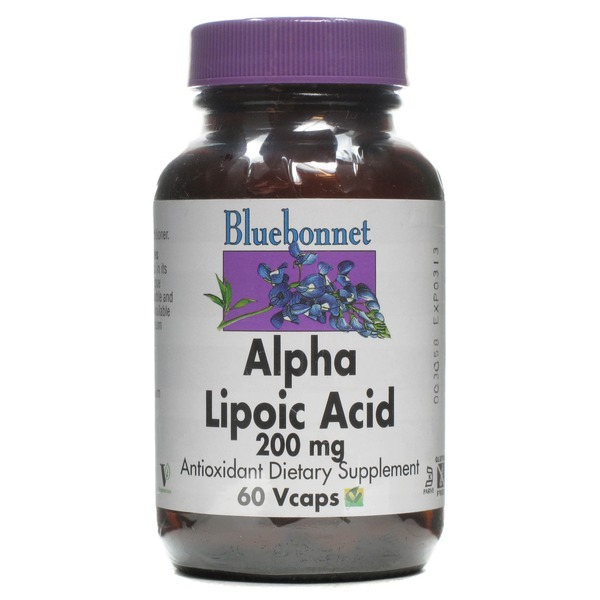 Bluebonnet Alpha Lipoic Acid 200 mg Antioxidant Dietary Supplement