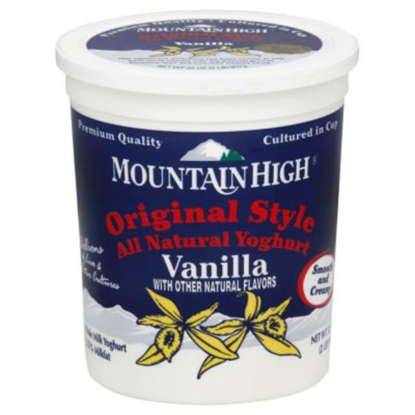 Mountain High Original Style Vanilla Yoghurt