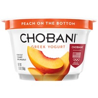 Chobani Peach on the Bottom Non-Fat Greek Yogurt