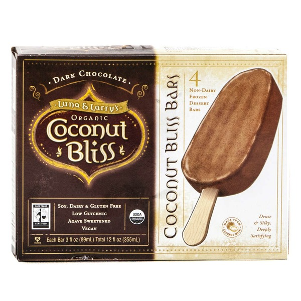 Luna & Larry's Coconut Bliss Dark Chocolate Frozen Dessert bars