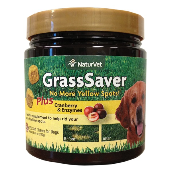 NaturVet Grass Saver Soft Dog Chews 120 Chews 8.4 Oz.