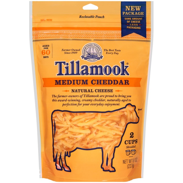 Tillamook Medium Cheddar Shredded Cheese