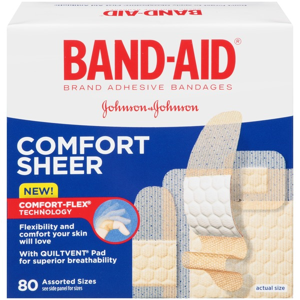 Band Aid® Brand Adhesive Bandages Comfort Sheer 80 ct Assorted Posted 5/7/2014 Value