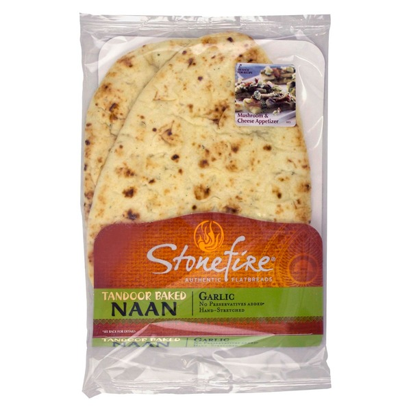 Stonefire Authentic Flatbreads Garlic Tandoor Baked Naan