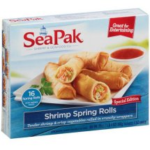 SeaPak Shrimp Co. Shrimp Spring Rolls with Dipping Sauce, 6 count, 20 oz