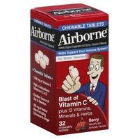 Airborne® Very Berry Chewable Tablets - 1000mg of Vitamin C - Immune Support Supplement (Packaging May Vary)