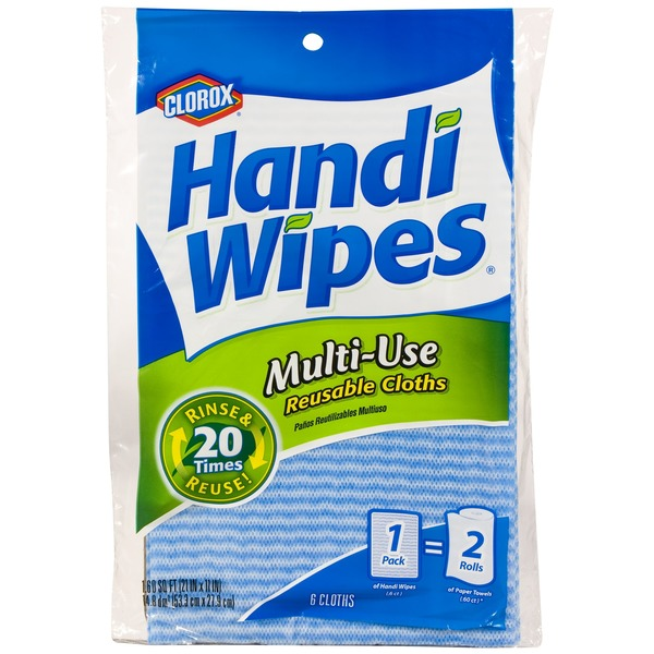 Clorox Handi Wipes Multi-Use Reuseable Cloths - 6 CT