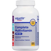 Equate complete multivitamin for men 50+ multivitamin/multimineral supplement, 200 Ct