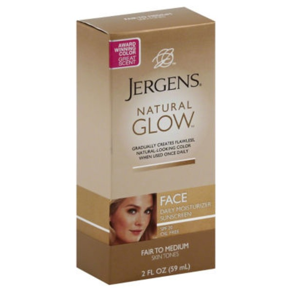 Jergens Natural Glow Natural Glow Face Fair to Medium Skin Tones Daily Moisturizer Sunscreen