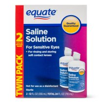 Equate Saline Solution For Sensitive Eyes , 12 Oz, 2 Pk