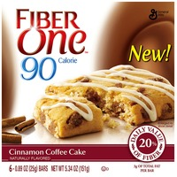 Fiber One 90 Calorie Cinnamon Coffee Cake Baked Bars