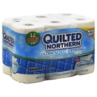 Quilted Northern Unscented Bathroom Tissue Ultra Soft & Strong - 12 CT