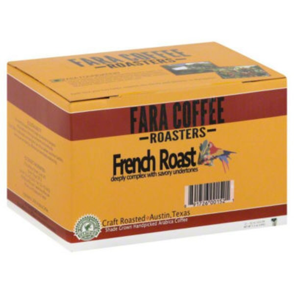Fara Cafe Coffee Coffee, French Roast, 12 Cups, K-Cup, Box