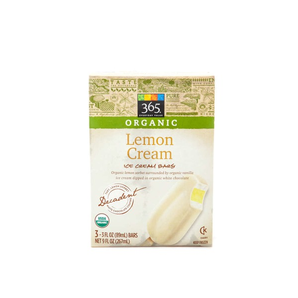 365 Organic Lemon Cream Ice Cream Bars