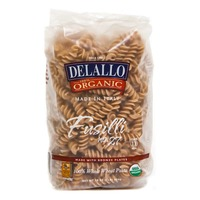 DeLallo 100% Organic Fusilli Whole Wheat Pasta