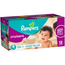 Pampers Cruisers Diapers, Size 4, 124 Diapers