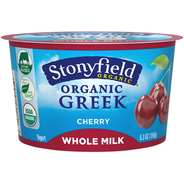 Stonyfield Organic Whole Milk Cherry Organic Yogurt