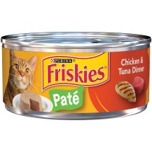 Purina Friskies Classic Pate Chicken & Tuna Dinner Cat Food 5.5 oz. Can