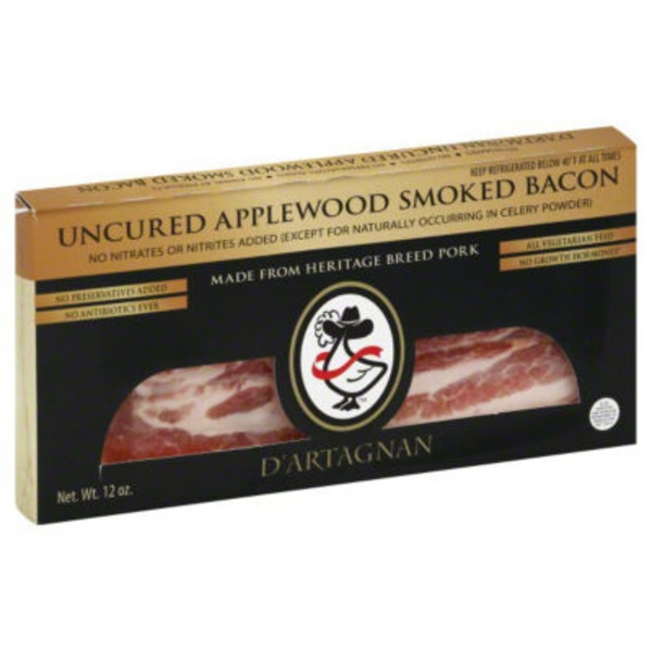 D'Artagnan Uncured Applewood Smoked Bacon