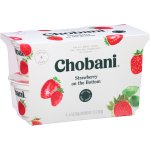 Chobani Greek Yogurt Non-Fat Strawberry Fruit on the Bottom, 5.3 oz, 4 Cup Pack