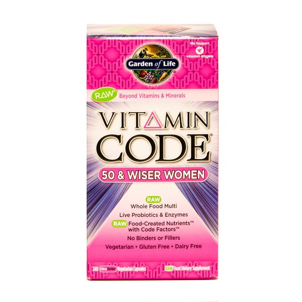 Garden of Life Vitamin Code 50 & Wiser Women's Dietary Supplement