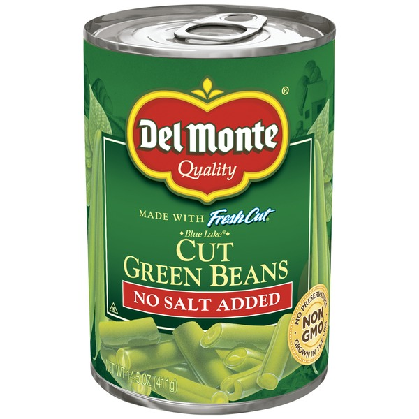 Del Monte Fresh Cut Blue Lake No Salt Added Cut Green Beans