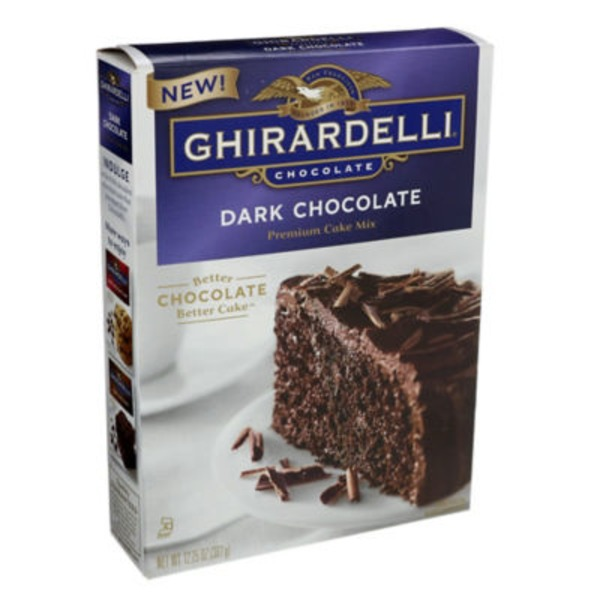 Ghirardelli Chocolate Dark Chocolate Premium Cake Mix