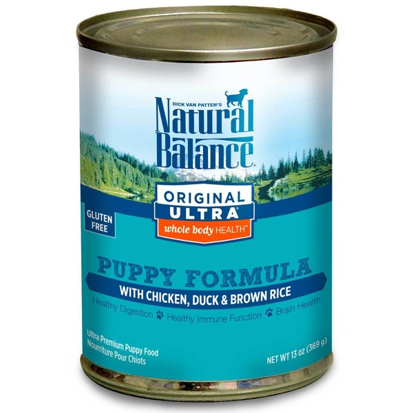 Natural Balance Original Ultra Whole Body Health Gluten Free Puppy Formula With Chicken Duck & Brown Rice