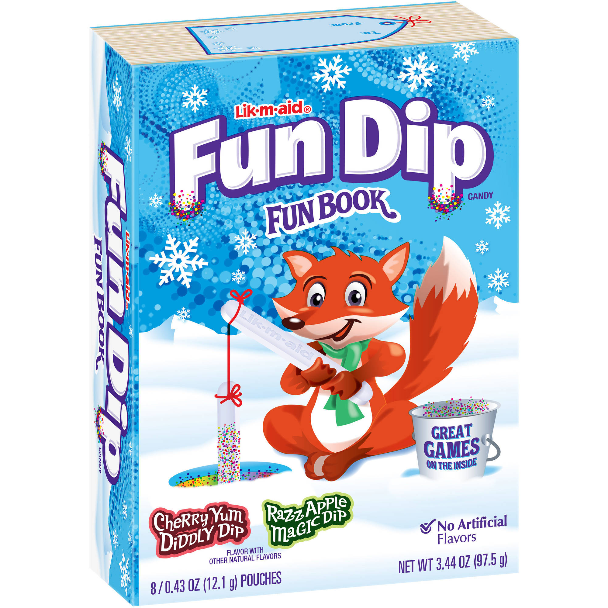 Wonka Fun Dip Holiday Fun Book with Candy Pouches