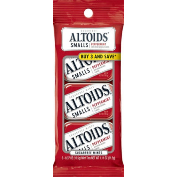 Altoids Smalls Peppermint Sugarfree - 3 PK