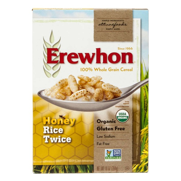 Erewhon 100% Whole Grain Cereal Honey Rice Twice