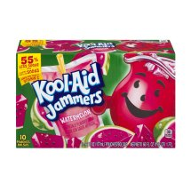 Kool-Aid Jammers Fruit Juice Pouches, Watermelon, 6 Fl Oz, 10 Count