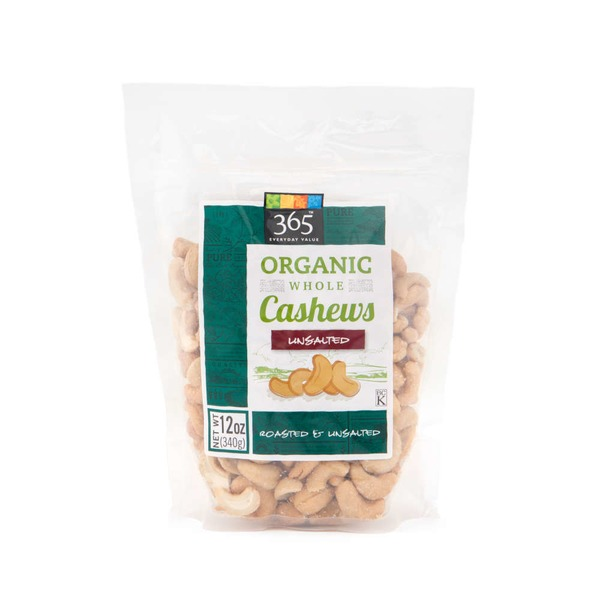 365 Organic Dry Roasted & Unsalted Cashews