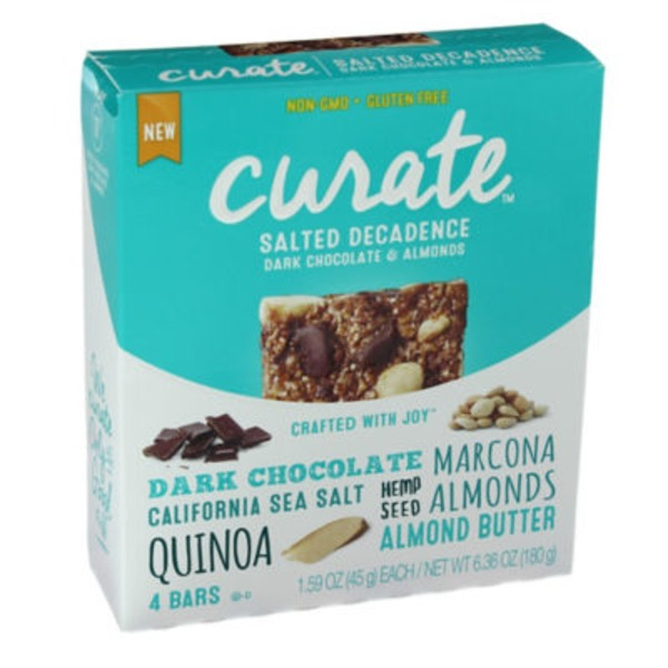 Curate Salted Decadence Dark Chocolate & Almonds Snack Bars