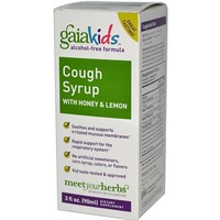 Gaia Herbs Honey & Lemon Alcohol Free Formula Kids Cough Syrup