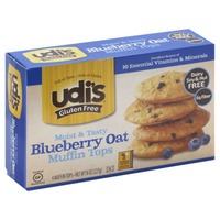 Udi's Gluten Free Moist & Tasty Blueberry Oat  Muffin Tops