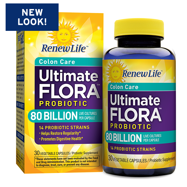 Renew Life Ultimate Flora Colon Care Probiotic 80 Billion