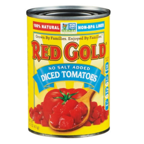 Red Gold No Salt Added Diced Tomatoes