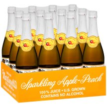 Martinelli's Gold Medal Sparkling 100% Juice, Apple Peach, 25.4 Fl Oz, 1 Count