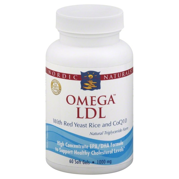 Nordic Naturals Omega LDL with Red Yeast Rice and CoQ10 1000mg