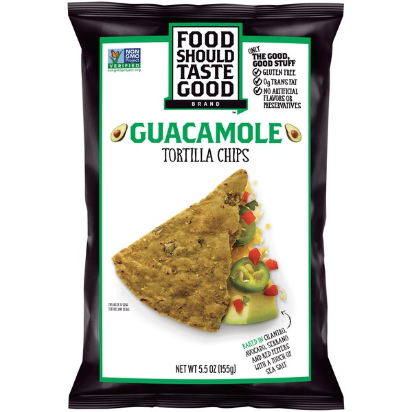 Food Should Taste Good Guacamole Tortilla Chips