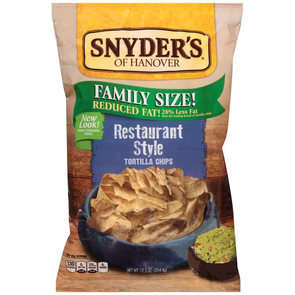 Snyder's of Hanover Reduced Fat Restaurant Style Tortilla Chips