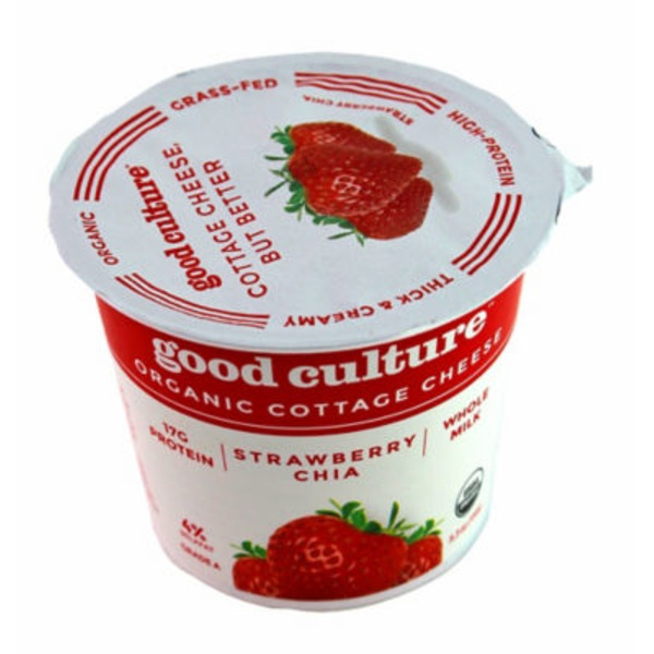 Good Culture Organic Strawberry Chia Lowfat 2% Cottage Cheese