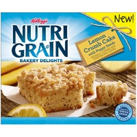 Kellogg's Nutri-Grain Bakery Delights with Poppy Seeds Lemon Crumb Cake