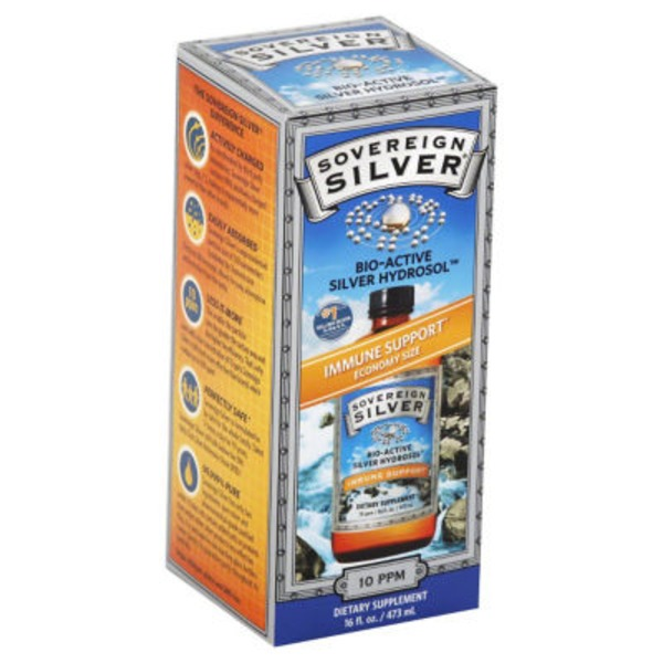 Sovereign Silver Bio-Active Silver Hydrosol Immune Support 10 ppm