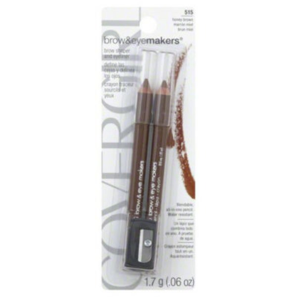 CoverGirl Brow and Eyemakers COVERGIRL Easy Breezy Brow Fill + Define Brow Pencil, Honey Brown, .06 oz (1.7 g) Female Cosmetics