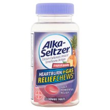 Alka-Seltzer Tropical Punch Heartburn + Gas Relief Chews Chewable Tablets, 32 count