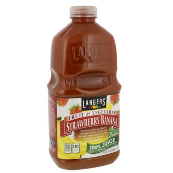 Langers 100% Juice Strawberry Banana
