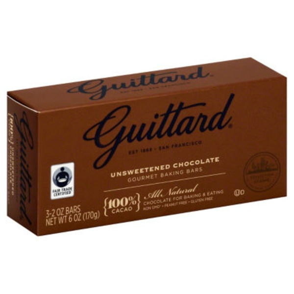 Guittard Unsweetened Chocolate Baking Bar